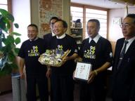 琥珀にんにく青森県知事と黒にんにく協会